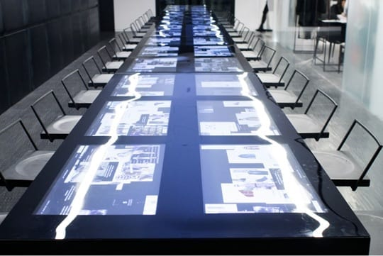 interactive glass tabletop metroclick