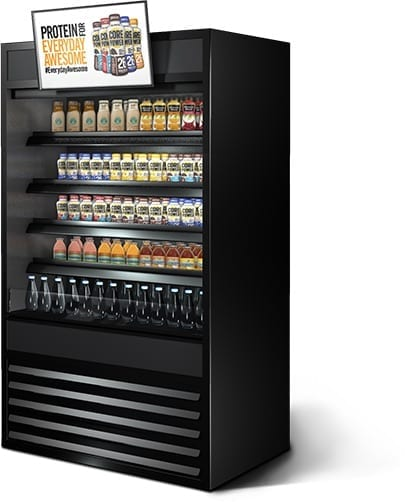 metroclick core power cooler interactive shelving system