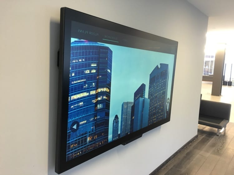 metroclick displays sleek interactive glass touch screens