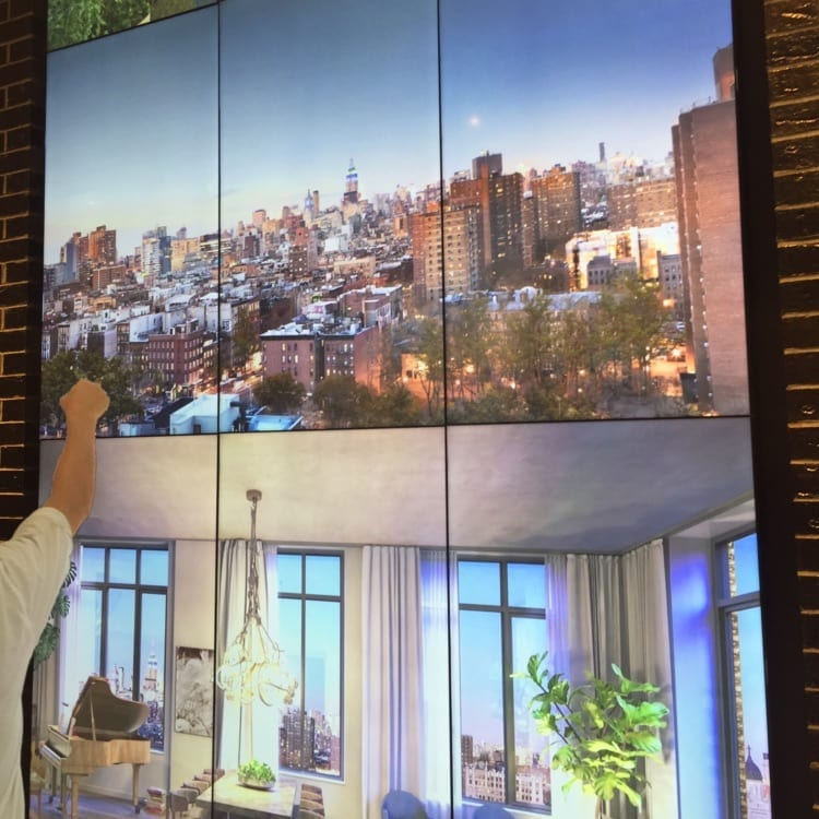 metroclick touchscreen interactive video wall system