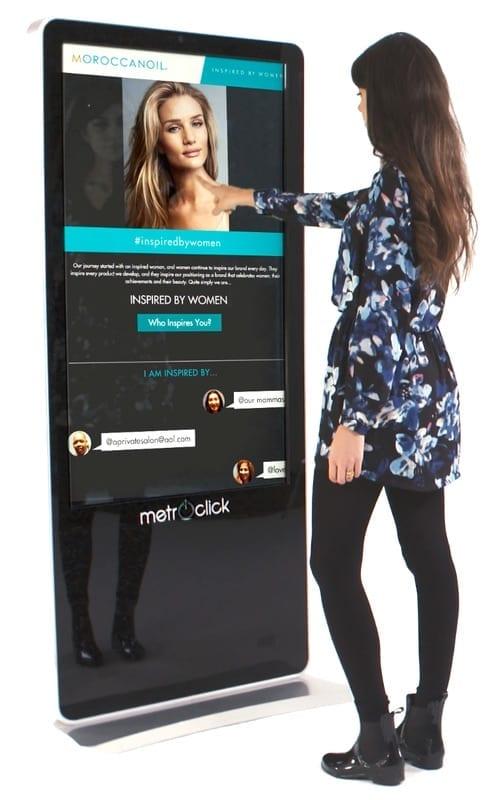 moroccan oil touchscreen kiosk metroclick