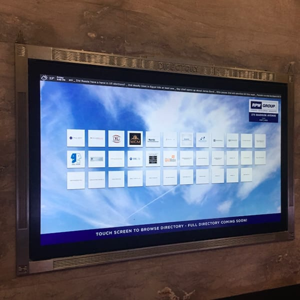social media integration touchscreen software