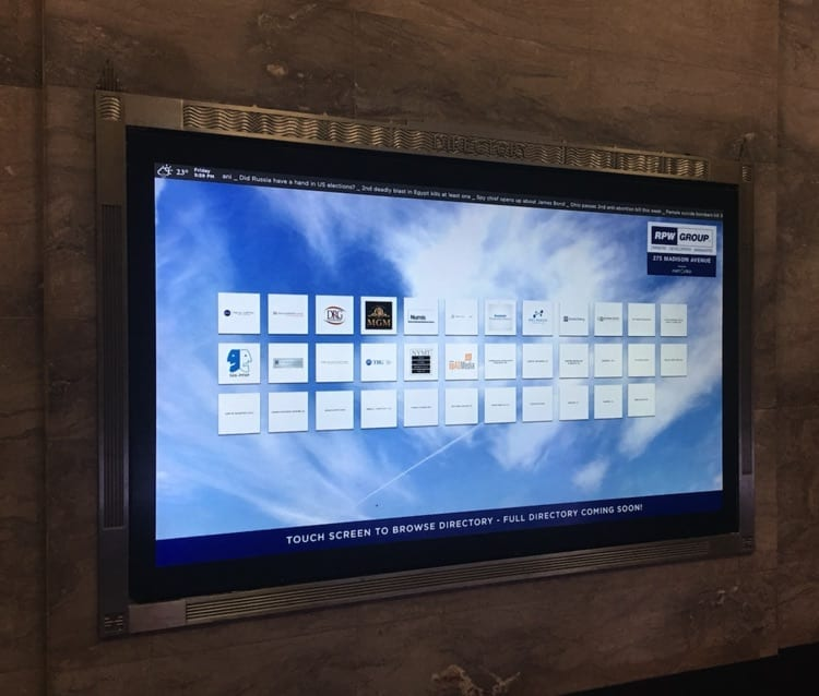 touch screen directory system metroclick