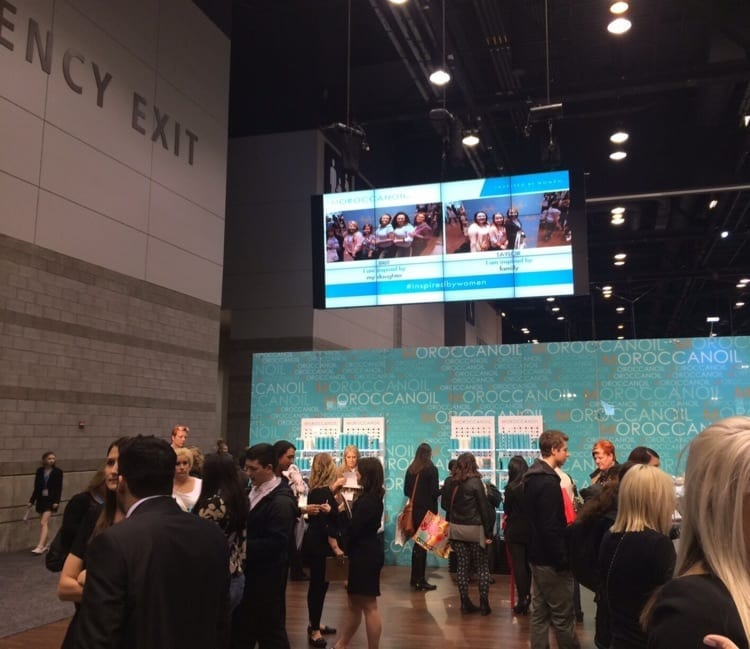 Moroccan Oil TradeShow large digital display system
