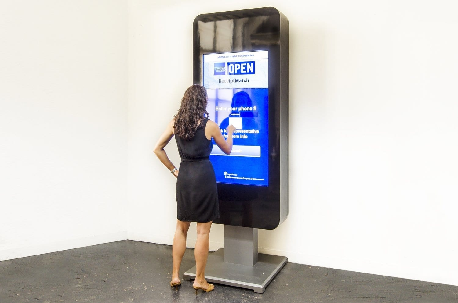 Trade Show Booth Kiosks : American express metroclick