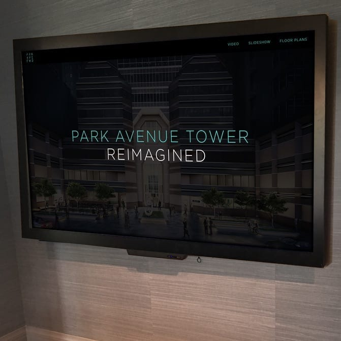 park avenue tower reimagined commercial interactive display solution