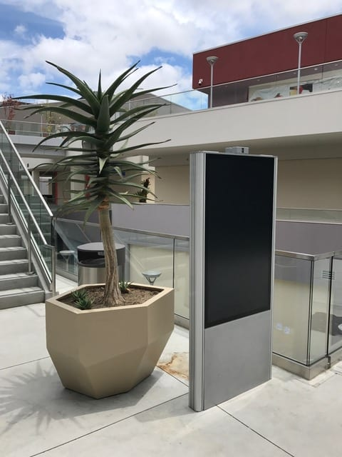 double sided outdoor kiosk