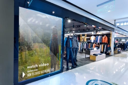 metroclick retail fitting room digital display system